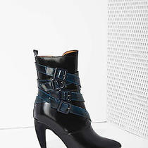 Jeffrey Campbell Destroyer Box Leather Bootie Boots Size 6.5 New in Box  Photo