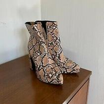 Jeffrey Campbell Dormant Boots Snake Print Platform Boots Photo