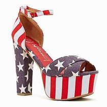Jeffrey Campbell - El Carmen Platform - American Flag - Peep Toe - Stripper  Photo