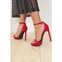 Jeffrey Campbell Finola Suede Heel - Red Size 8.5 New in Box  Photo