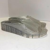 Jeffrey Campbell Fling 2 Jelly Sandal Sz 6 Clear Slides Slip on Platform  Photo