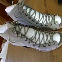 Jeffrey Campbell for Free People Taupe  Suede Lace Up Sandal Size 6-1/2  3