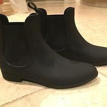 Jeffrey Campbell Forecast Chelsea Waterproof Rain Black Booties Size 10 Excellen Photo