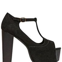 Jeffrey Campbell Foxy Wood Black Suede 9m Photo