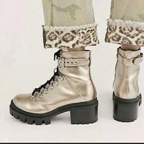 Jeffrey Campbell Free People Czech Lace-Up Boots in Gold -Size 7 New/other Photo