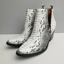 Jeffrey Campbell Free People Hunt the Plains Black White Snake Boot Size 8.5 New Photo