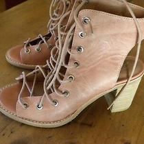 Jeffrey Campbell Free People Leather  Blush  Sandal Size 6-1/2  3
