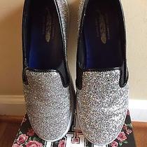 Jeffrey Campbell/free People Silas Silver Glitter Slip on Sneakers sz.9 Photo