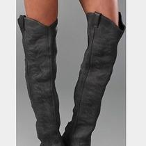 Jeffrey Campbell Free People Slither Boots Grey Cowboy Over the Knee Photo