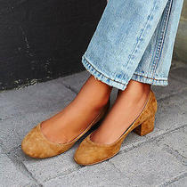 Jeffrey Campbell / Free People Tan Suede Block Heels (Size 7) Photo
