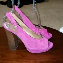 Jeffrey Campbell Friend Pumps Sz 9 Fuchsia Suede Womens High Heel Shoes Photo