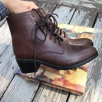 Jeffrey Campbell 'Gamin' Brown Leather Lace Up Granny Combat Boots 9 Free People Photo