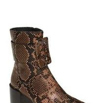 Jeffrey Campbell Godard Brown Snake/cheetah Bootie Size 7 Photo