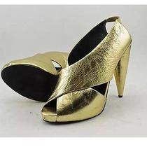 Jeffrey Campbell Gold High Heels Size 10 Photo