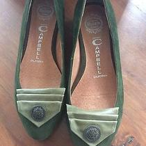 Jeffrey Campbell Green Suede Nwob Flats -5.5 Photo