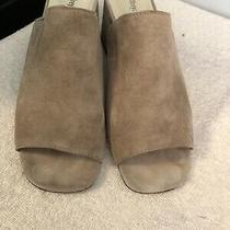 Jeffrey Campbell Grey Suede Mule Size 9.5 Photo
