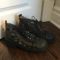Jeffrey Campbell Grunge Lace Up Cutout Boots Euc 9.5 Photo