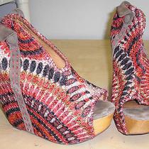 Jeffrey Campbell Handmade Havana Last Wedges Shoes Platforms 100% Authentic Sz 7 Photo
