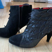 Jeffrey Campbell Handmade Ibiza Last Bootie Boot Black Suede & Leather Size 7 Photo