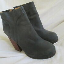 Jeffrey Campbell Hanger  Black Leather Ankle Heel Boots Size 7m Photo