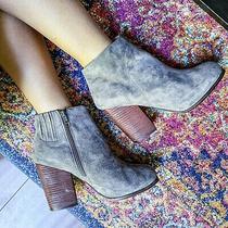 Jeffrey Campbell Hanger Gray Suede Heeled Ankle 10 Boots Booties Heel  Photo