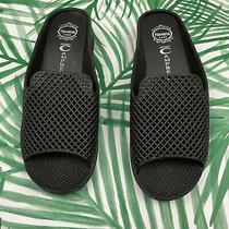 Jeffrey Campbell Havana Last Black Rubber Slides Womens Size 8 Photo