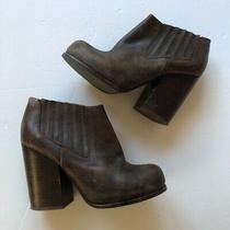 Jeffrey Campbell Havana Last Brown Leather Booties Size 7.5 Photo