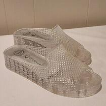 Jeffrey Campbell Havana Last Clear Jelly Platform Slide Sandals Size 8 Photo