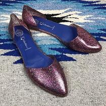 Jeffrey Campbell Havana Last Pink Sparkle Jelly d'orsay Flats Slip on Shoes 10 Photo