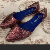 Jeffrey Campbell Havana Last Pink Sparkle Jelly d'orsay Flats Slip on Shoes 9 Photo