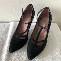 Jeffrey Campbell Havana Last Shoes Black Suede Heels Sz 7.5 Photo
