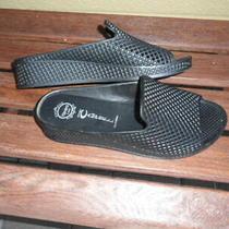 Jeffrey Campbell Havana Last Size 10m Black Lattice Womens Slide Sandals  Photo
