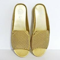 Jeffrey Campbell Havana Last Size 10m Gold Lattice Womens Slides Sandals Shoes Photo