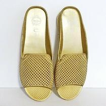 Jeffrey Campbell Havana Last Size 10m Gold Lattice Womens Slides Sandals Shoes Photo