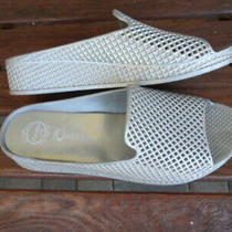 Jeffrey Campbell Havana Last Size 10m Silver Lattice Womens Slide Sandals  Photo