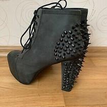 Jeffrey Campbell Havana Last Spiked Platform Ankle Boots Size Us 10 Eu 42 Photo