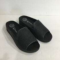 Jeffrey Campbell Havana Last Women's Sz 7 Black Lattice Slides Sandals Shoes Photo