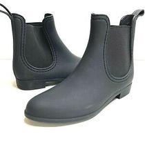 Jeffrey Campbell Havana Last Womens 7m Black Chelsea Ankle Rubber Rain Boots New Photo