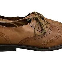 Jeffrey Campbell Havana Leather Oxford Lace Up Comfort Leather Size 8 Brown Photo