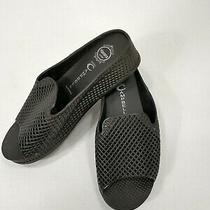 Jeffrey Campbell Havana Womens 7 Sandals Last Black Flip Flops Rubber Slides Euc Photo