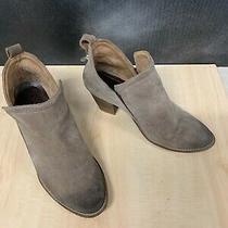 Jeffrey Campbell Heel Ankle Buckskin Suede Boots Booties Size 10 Women Photo