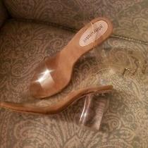 Jeffrey Campbell Heels Clear Heel Clear Ankle Straps Gorgeous Sz 8 Strappy Shoes Photo