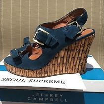 Jeffrey Campbell Help Suede Bamboo Wedges Tory Photo