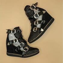 Jeffrey Campbell Hipster Buckle Perforated Wedge Sneaker 8 Photo