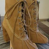 Jeffrey Campbell Hiver Suede Tan Boot 5.5 Photo