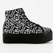 Jeffrey Campbell Hiya Words Sneakers Sz 9 Fits 8.5 Photo