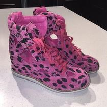 Jeffrey Campbell Hot Pink Sneaker Wedge With Leopard Photo