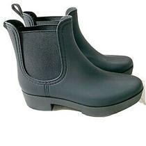 Jeffrey Campbell Hydra Waterproof Chelsea Boot Black Women's Sz 10m New Photo