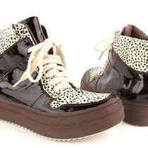Jeffrey Campbell Ibiza Brown / Dalmation Spotted Platform Fashion Sneaker Sz 6m Photo