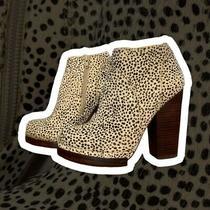 Jeffrey Campbell Ibiza Calf Hair Platform Ankle Bootie Rare Womens 8 Photo